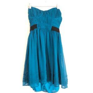 Pins & Needles Strapless Teal Dress